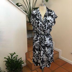 Ann Taylor LOFT | Mini Abstract Floral Dress